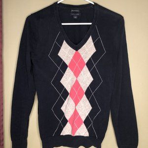 Tommy Hilfiger Argyle V-neck Sweater